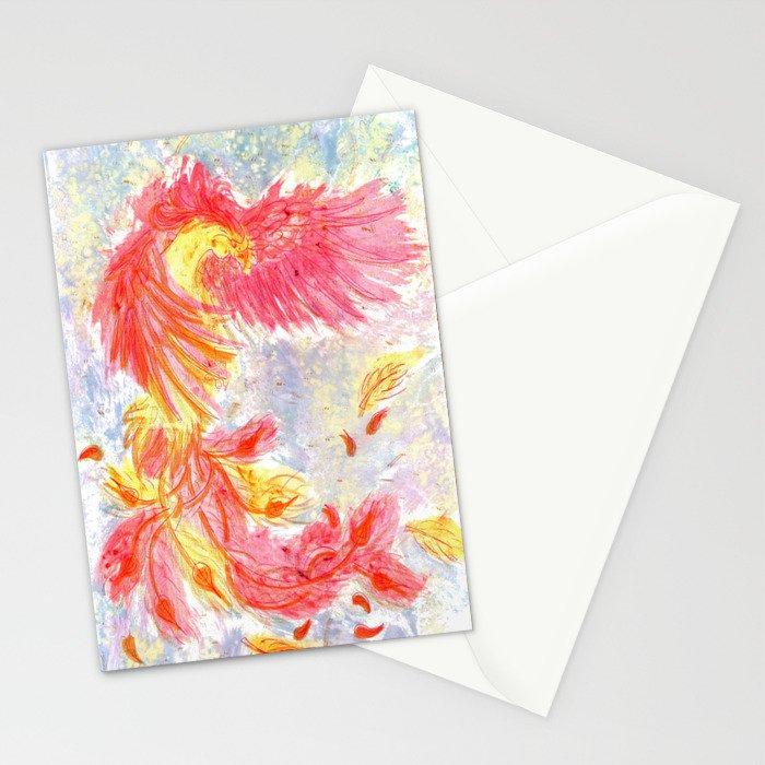 Firey Phoenix Stationery Cards