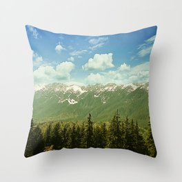 Summer mountain landscape Throw Pillow