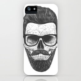Hipster Skull iPhone Case