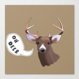 Deer Puns Canvas Print