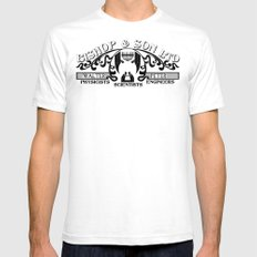 Bishop & Son Ltd SMALL White Mens Fitted Tee