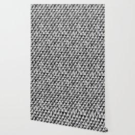 Geometric Pattern 223 (gray mid-century triangle) Wallpaper