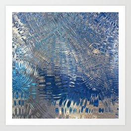 freeze glass with trees Art Print