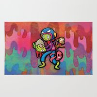 monster Area & Throw Rugs featuring Monster by HOOKEEAK