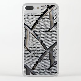 Background pattern winter stud tire Clear iPhone Case