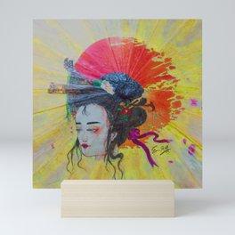 Sunset & Geisha Mini Art Print
