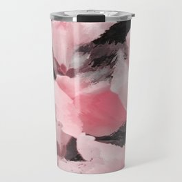 Light Pink Snapdragons Abstract Flowers Travel Mug