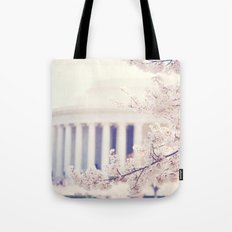 Cherry Blossoms at the Jefferson Memorial Washington DC Tote Bag