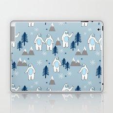 Yeti winter christmas cute forest pattern kids nursery holiday gifts Laptop & iPad Skin