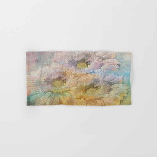 Soft Painted Rainbow Daisies Abstract Hand & Bath Towel