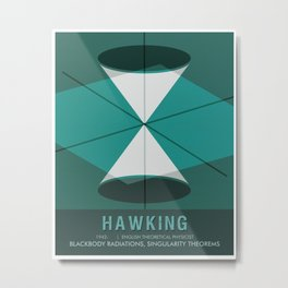Science Poster - Stephen Hawking - Theoretical Physicist Metal Print