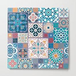 Geometric tiles Metal Print