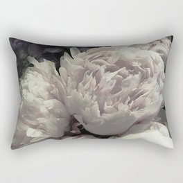 Peonies pale pink and white floral bunch Rectangular Pillow