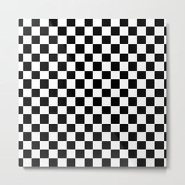 Checkerboard (SF) - (Collection Black & White) Metal Print