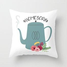 Homebody Tea Throw Pillow
