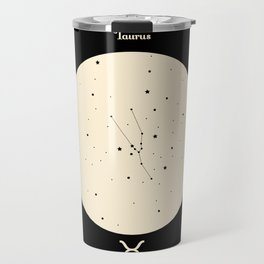 Taurus - Black Travel Mug