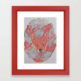 Washed Shiba Inu Framed Art Print