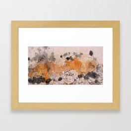 Village Drip Framed Art Print