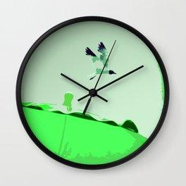 Beach Graphics No 2: Kelly Green Wall Clock