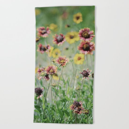 Sunshine at my feet Beach Towel