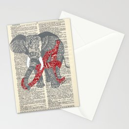 Roll Tide (Alabama Elephant) Stationery Cards