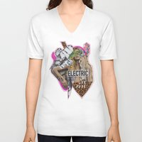 sia V-neck T-shirts featuring ELECTRIC FANTA-SIA  by Vasare Nar