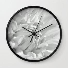 Dahlia white 191 Wall Clock