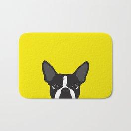 Boston Terrier Yellow Bath Mat