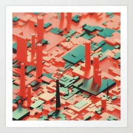 Downtown Convergence Art Print
