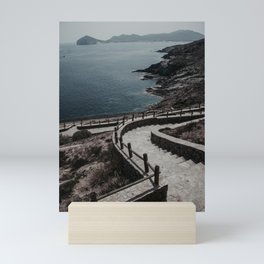Stairway to the sea Mini Art Print