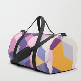 Violet Pattern Duffle Bag