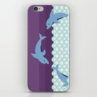 dolphins iPhone & iPod Skins featuring Dolphins by Eunice Wong