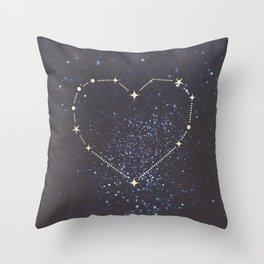 Shining Heart Constellation Throw Pillow