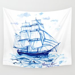 Set the sails! All aboard the Morgenster Wall Tapestry