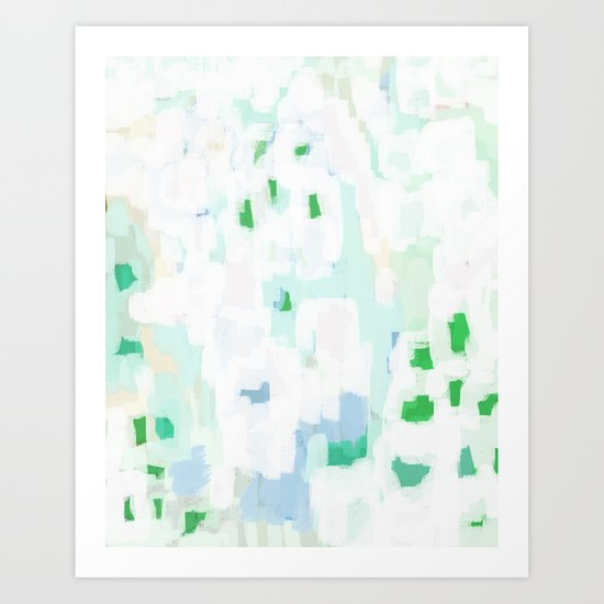 Sevli - abstract painting minimal art trendy colors dorm college home decor canvas wall art by charlottewinter