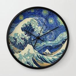 Starry Night Wave Wall Clock