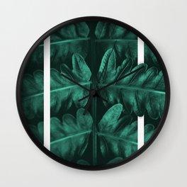 Framed Leafe Wall Clock