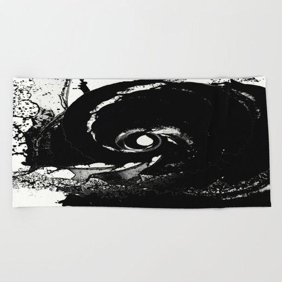 Whirlpool Of Black Beach Towel