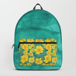 Joyful lilies over teal waters - back to school Backpack