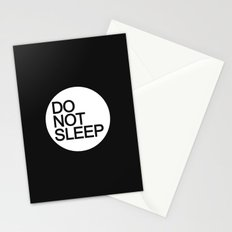 Do Not Sleep Stationery Cards