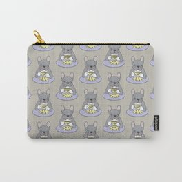 High Teas with Sweet and Cute Blue Brindle French Bulldog Carry-All Pouch