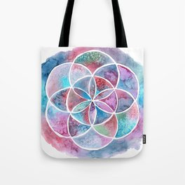 Watercolor Mandala II Tote Bag