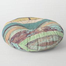 Wooden Vintage Floor Pillow