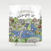 dc Shower Curtains featuring Washington DC by Brooke Weeber