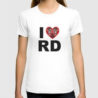 roller derby T-shirts featuring I heart roller derby by Andrew Mark Hunter