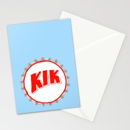 Kik bottle cap lefty Stationery Cards