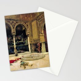 12,000pixel-500dpi - Mariano Fortuny - The Slaying Of The Abencerrajes - Digital Remastered Edition Stationery Cards