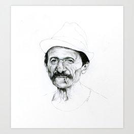 Working class hero Art Print