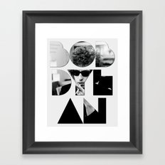 Bob Dylan Font Sunglasses Framed Art Print