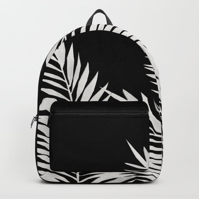 Palm Leaves White Backpack
